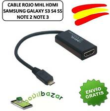 ADAPTADOR MHL a HDMI SAMSUNG GALAXY S2 i9100 HDTV MICROUSB MICRO USB CABLE