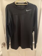 New Nike Pro Hyperwarm Compression Long Sleeve Shirt Men's Large Black