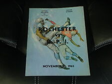 1965 R.P.I. AT ROCHESTER COLLEGE FOOTBALL PROGRAM  EX-MINT
