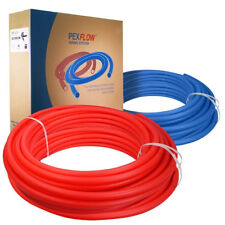 "2 Rolls 1/2"" x 100ft PEX Tubing Blue and Red Potable Water, PEX-B (Non-Barrier)"