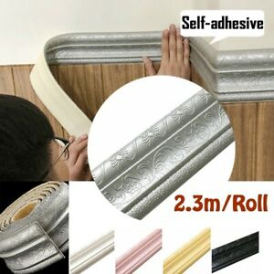 3D Self Adhesive Waterproof Pattern Wall paper Border Decor Removable Sticker