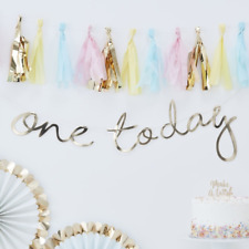 ONE TODAY GOLD GARLAND - 1ST BIRTHDAY DECORATION