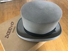 VINTAGE DUNN & CO GREY TOP HAT 56 CM / 22 INCHES IN ORIGINAL BOX