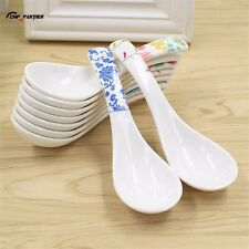 1PC Plastic Asian Soup spoons Flower Printing Chinese Flatware Kitchen Utensils