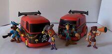 Scooby Doo 2 Pirate Pull Back Toy Car & 4 Pirate Figure Hanna Barbera Dolls