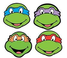 Teenage Mutant Ninja Turtles Variety 4 Pack TMNT Official Card Party Face Masks
