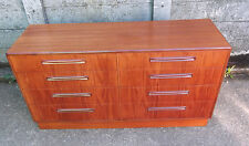 SUPERB RETRO TEAK G PLAN 8 DRAWER CHEST OF DRAWERS/SIDEBOARD - VERY CLEAN