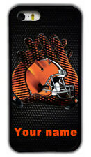 Custom Cleveland Browns Personalised Name Rubber Phone Case For iPhone/ Samsung