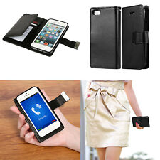 For Apple iPhone 7 6 6s 5s Magnet TPU Leather Flip Wallet Case Card Folio Cover