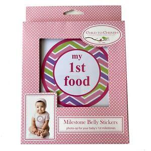 Child to Cherish Milestone Belly Stickers Photo-Op for Baby's 1st Milestones Kit