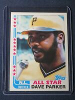 1982 Topps DAVE PARKER All Star Card #343 Pittsburgh Pirates MINT Free Shipping!