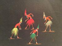 Art Afrique aquarelle sur papier signée illisible à droite