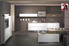 CONCEPT HOCHGLANZ Design Küche Grifflosküche Hochglanz weiss Küche mit Eingriff