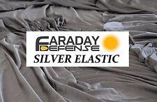 """EMF Blocking & RF RFID Shielding Silver Fabric Roll - 64"""" x 1' Elastic Material"""