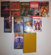11 Lot Science Fiction Novels,Star Wars,Frank Herbert,Alan D.Foster,Isaac AsimS1