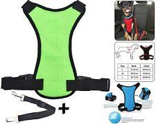 Pet Dog Car Seat Belt Safety Chiot Breathable Air Double Mesh Lead - Vert Petit