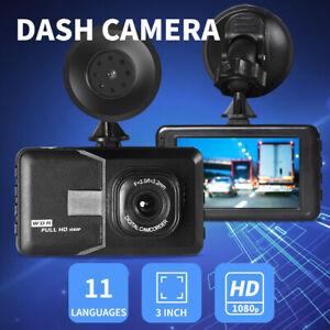 "Car Dash Camera Cam 1080P FHD 3""LCD Video DVR Recorder Camera 11 Languages"