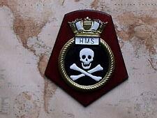 More details for ships crest hms jolly roger - skull and crossbones - submarine interest