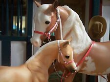 Jaapi Valentine's mare & Foal halter set - fits Breyer/Stone traditional models