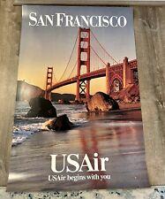 "Vintage US Air poster San Francisco Poster 24"" X 36"""