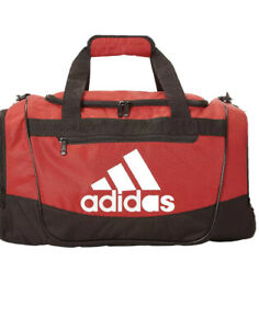 Adidas Defender ||| Small Red/Black/White Unisex Sports Duffle Bag 0134975-B160