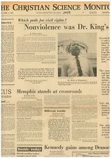 More details for martin luther king assassinated non violence was his plea april 6 1968 b23