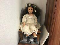 Bettina Feigenspan Hirsch Vinyl Puppe 63 cm. Top Zustand.