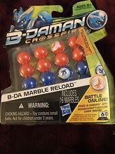 NEW B-Daman Crossfire B-DA MARBLE RELOAD 16 Marbles Orange Blue Ultra Skillshot!