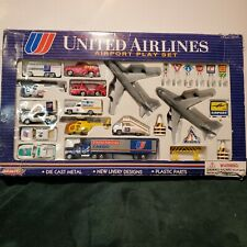 UAL~United Airlines-vintage-1993 Airport Play Set by Real Toy