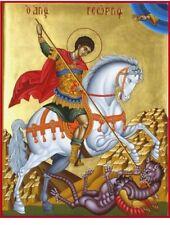 Sait George the Trophier Eastern Orthodox Byzantine icon-22karat gold leaf