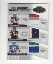 2002 Playoff Honors #RC-11 - 2000 Rookie Jersey Patch TOM BRADY + Urlacher 33/50