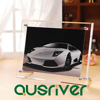 Acrylic Transparent Table Photo Frames 6'' x 8'' Horizongtal Format Photo Holder