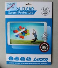 3 X  LASER ULTRA CLEAR SCREEN PROTECTORS  FOR SAMSUNG TAB S MINI