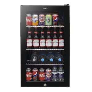 Baridi 80L Wine Beer Drinks Fridge Cooler Thermostat Lock & Key & Light