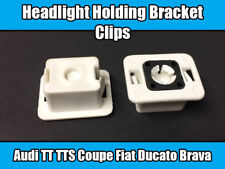 2x Clips For Audi TTS Coupe Fiat Ducato Headlight Holding Bracket White Plastic
