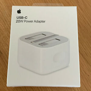 Genuine Apple A2244 20W USB Type C Mains UK Folding Travel Wall Charger Plug