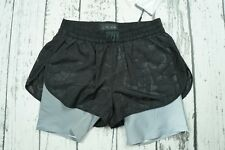 New Runway Alexander Wang x H&M Black Perforated Shorts Sport Logo Gym US4 EUR34