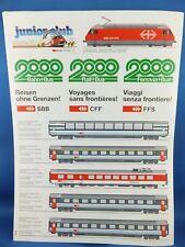 SBB CCF FFS Junior Club Stickers Passenger Train