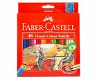 48 FABER CASTELL Classic Colour Pencil Art Colouring Coloured Eco Pencils Bulk