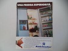 advertising Pubblicità 1987 FRIGORIFERO KELVINATOR KIF 26