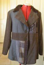 Newport Studio Brown Grey Ladies Jacket  - Size 16
