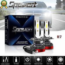 2Pcs 110W 6000K white H7 LED Mini Headlight Kit COB Chip Fog lamp Driving light