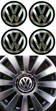4 adhésifs stickers noir chrome centre de jantes VW (disponible de 75mm à 99 mm)