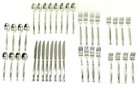 Oneida Act 1 Fine Stainless Steel Flatware 18/10 Glossy Cube 40 Piece set for 8