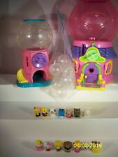 Huge Lot Of Squinkies 14 squinkies and 2 gumball Dispensers