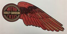Harley-Davidson WINGS fuel tank decals Shovelhead Red & Gold