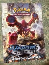 pokemon album da collezione vapori accesi x y senza figurine