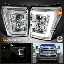 2011-2016 Ford F250 F350 F450 SuperDuty LED DRL Projector Headlights Left+Right