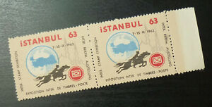 Poster Stamps - Cinderella - Turkey Istanbul Exhibition 1963 A28