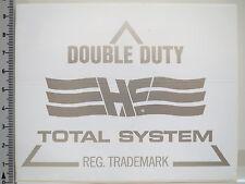 Adesivo sticker Double Duty-he-Total Systems-REG. trademark (2203)